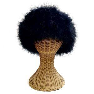 Vintage Ostrich Feather Cossack Statement Hat